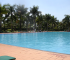Outdoor swimming pool at Speke Resort in Munyonyo, Uganda