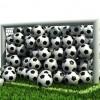 Goal full of soccer balls / Tor voller Fußbälle