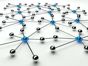 Abstrakte Darstellung von Netzwerken und Kommunikation