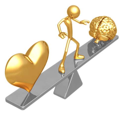 Balanzieren von Herz und Verstand