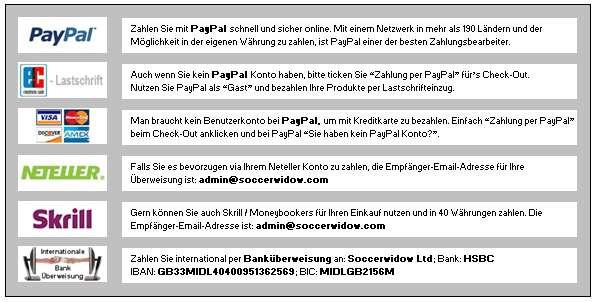 Übersicht Fußballwitwe Zahlungsmethoden