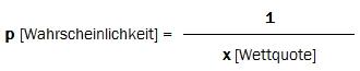 Konvertierung Wahrscheinlichkeit in Wettquote-2