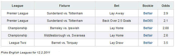 2011.02.12 - Picks Premier League