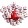 Percent cubes, 3D image / Prozent-Würfel, 3D-Bild