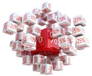 Prozent-Würfel, 3D-Bild