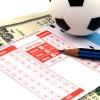 Football Betting Slip with US Dollars / Fußball-Wettschein und US-Dollar-Noten