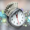Uhr mit Reißverschluss und Dollarnoten