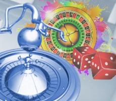 Concept illustration: gambling, roulette & casino / Konzept Illustration: Glücksspiel, Roulette & Casino
