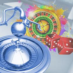 Concept illustration: gambling, roulette & casino