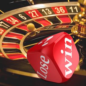 Gewinnen/Verlieren - Würfel und Roulette-Rad