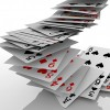 Background of falling cards / Fallende Karten