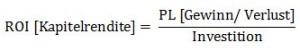 ROI Formel