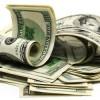 Dollar notes / Geldbündel zusammengerollter Dollarscheine
