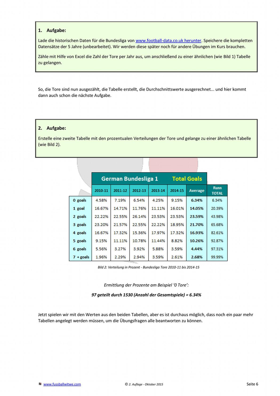 Buchvorschau: Wettkurs - Toreverteilung und Prozentrechnung - Seite 2