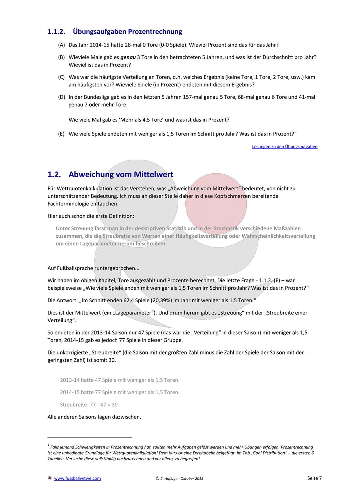 Buchvorschau: Wettkurs - Toreverteilung und Prozentrechnung - Seite 3