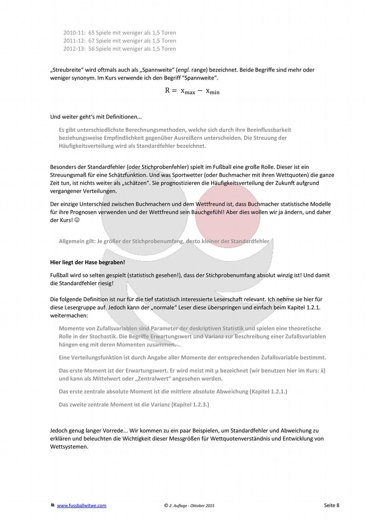 Buchvorschau: Wettkurs - Toreverteilung und Prozentrechnung - Seite 4