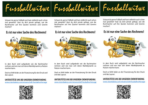 Crowdfunding Aufruf - Flyer Handout