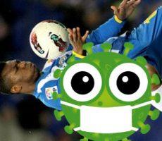 Illustration Coronavirus & football player